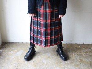 赤チェックプリーツスカート<br>O'neil of Dublin