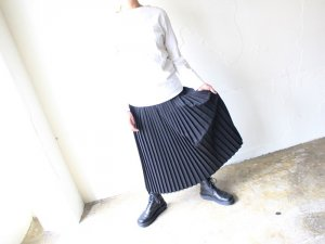細プリーツスカート【2色】<br>Charpentier de Vaisseau