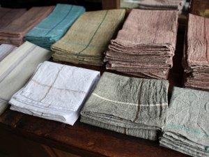 カディハンカチ【8色】<br>インド手紬手織り伝統生地