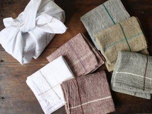 カディキッチンクロス【9色】<br>インド手紬手織り伝統生地