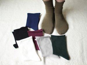 【1】コットンプレーンソックス<br>【7色】靴下職人