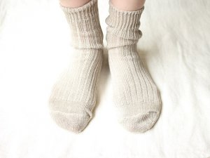【9】リネンリブショートソックス<br>【11色】靴下職人