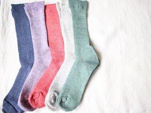【11】リネンリブ底パイル<br>【5色】靴下職人
