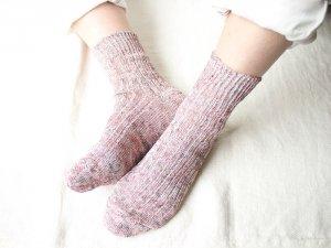 【12】リネンリブマーブル<br>【2色】【限定個数】靴下職人