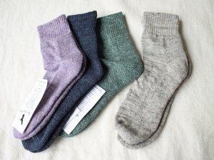 【16】リネンショート底パイル<br>【4色】靴下職人