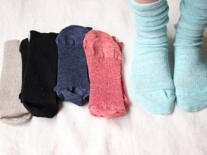 【22】リネンストレスフリーソックス<br>【5色】靴下職人