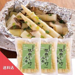 根曲がり竹(水煮)3袋セット【送料込・同梱不可】