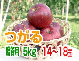 【9月上旬発送予定】つがる 贈答用5kg(約14〜18玉)
