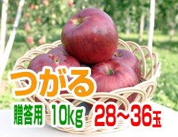 【9月上旬発送予定】つがる 贈答用10kg(約28〜36玉)