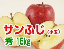 【12月発送】【秀小玉】サンふじ 贈答用15kg(約63〜69玉)