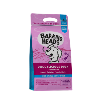 リニューアル バーキングヘッズ グレインフリー ドギー・リシャス ダック 1.5� 小型犬・全犬種成犬用(旧 タイニーパウズ クワッカーズ)