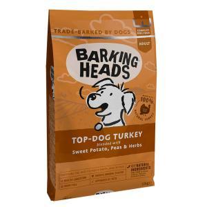 バーキングヘッズ グレインフリー トップ ドッグ ターキー 12� 全犬種成犬用
