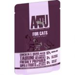 AATU (アートゥー)97/3 ウェット チキン&ウズラ キャットフード 85g 成猫用