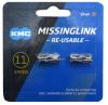 KMC ミッシングリンク 11s用 (CL555R) シルバー 2個入り