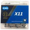 KMC X11-SV/BK 11s用チェーン 118L シルバー/ブラック