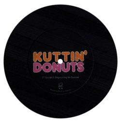 "Dr. Suzuki Slipmats / Kuttin' Donuts 7"" [Black] 1枚入 7インチ スリップマット"