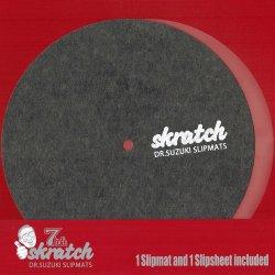 """Dr. Suzuki Slipmats / skratch 7"""" (7インチ・スリップマット 1枚 + スリップシート 1枚)"""
