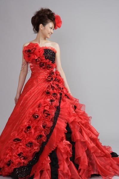 カラードレス/赤