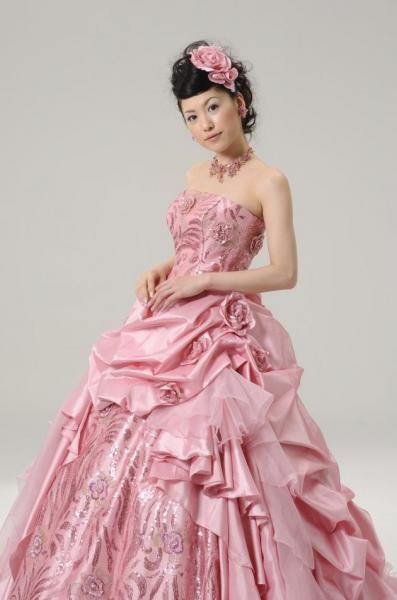 4c231c4d21443 カラードレス ピンク - オリジナルウェディングドレス・レンタル衣装 アトリエ ルーチェ