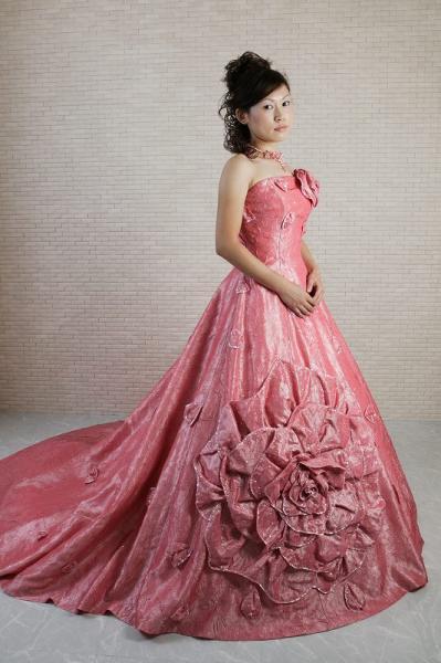 36cf077f00308 カラードレス コーラルピンク - オリジナルウェディングドレス・レンタル衣装 アトリエ ルーチェ