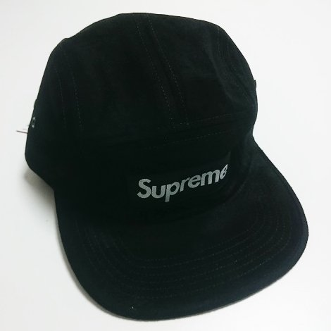 Supreme SUEDE BOX LOGO CAMP CAP<img class='new_mark_img2' src='//img.shop-pro.jp/img/new/icons47.gif' style='border:none;display:inline;margin:0px;padding:0px;width:auto;' />