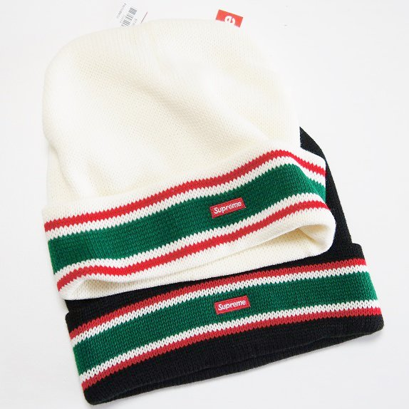 Supreme Striped Cuff Baenie<img class='new_mark_img2' src='//img.shop-pro.jp/img/new/icons47.gif' style='border:none;display:inline;margin:0px;padding:0px;width:auto;' />