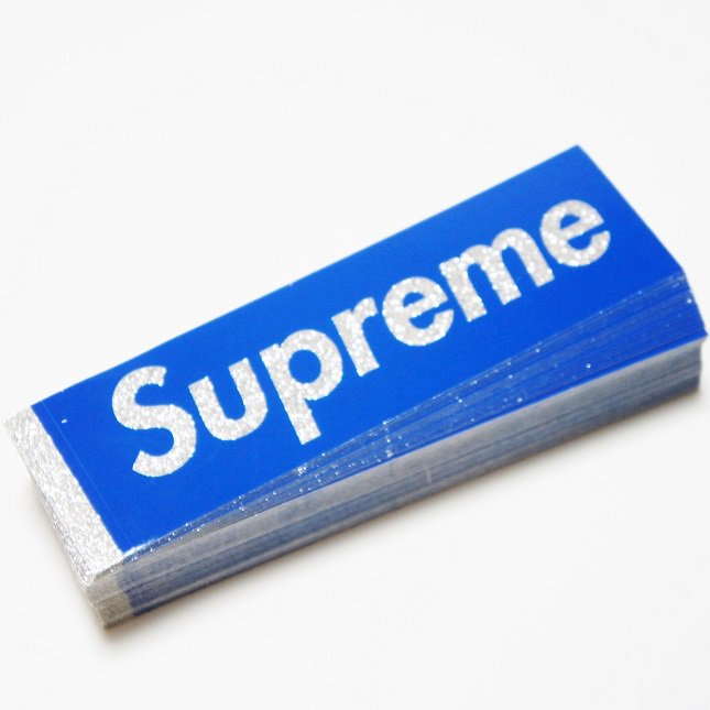 Supreme Bling Blue Box Logo Sticker