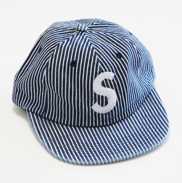 Supreme Washed Denim S Logo 6-Panel