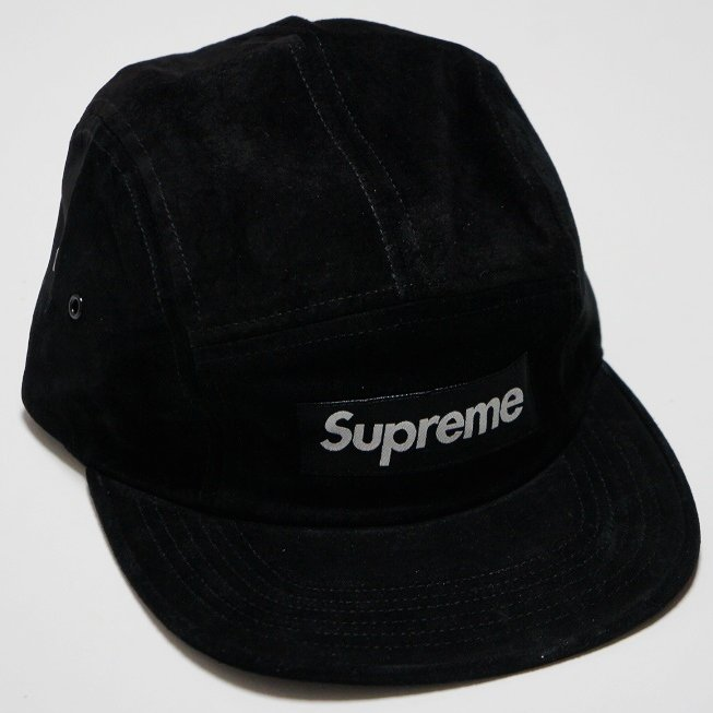 Supreme Box Logo Suede Camp Cap<img class='new_mark_img2' src='https://img.shop-pro.jp/img/new/icons47.gif' style='border:none;display:inline;margin:0px;padding:0px;width:auto;' />