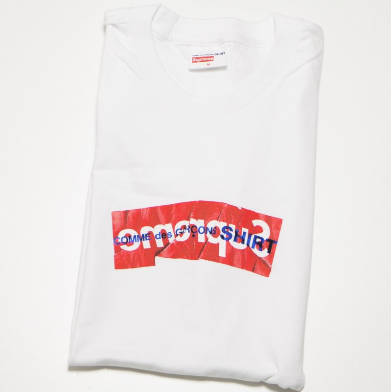 COMME des GARCONS SHIRT Supreme Box Logo Tee<img class='new_mark_img2' src='//img.shop-pro.jp/img/new/icons47.gif' style='border:none;display:inline;margin:0px;padding:0px;width:auto;' />