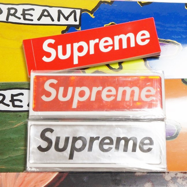 Supreme Raised Plastic Box Logo Sticker