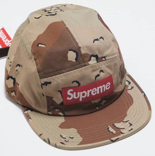 Supreme Box Logo Washed Chino Twill Camp Cap
