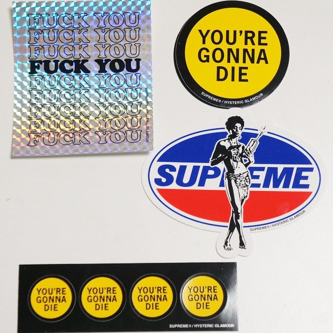 Supreme HYSTERIC GLAMOUR Sticker <img class='new_mark_img2' src='//img.shop-pro.jp/img/new/icons15.gif' style='border:none;display:inline;margin:0px;padding:0px;width:auto;' />