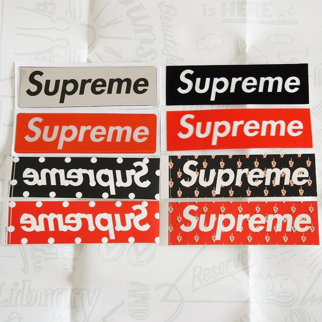 Supreme Red / Black ボックスロゴステッカーセット<img class='new_mark_img2' src='//img.shop-pro.jp/img/new/icons15.gif' style='border:none;display:inline;margin:0px;padding:0px;width:auto;' />