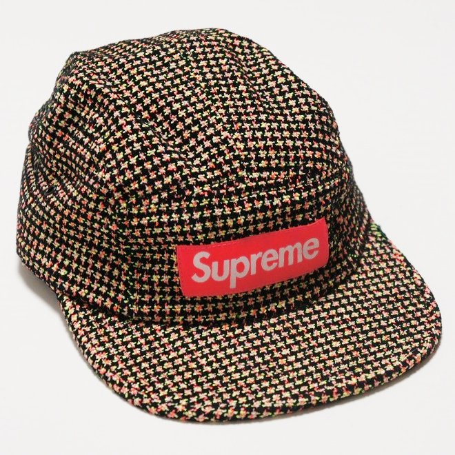 Supreme Boucle Houndstooth Camp Cap <img class='new_mark_img2' src='//img.shop-pro.jp/img/new/icons16.gif' style='border:none;display:inline;margin:0px;padding:0px;width:auto;' />