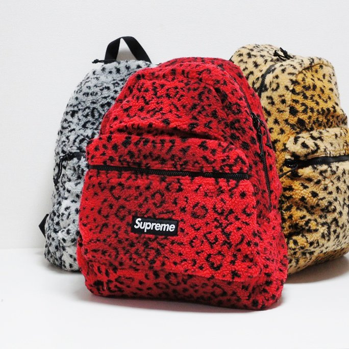Supreme Leopard Fleece Backpack<img class='new_mark_img2' src='https://img.shop-pro.jp/img/new/icons16.gif' style='border:none;display:inline;margin:0px;padding:0px;width:auto;' />
