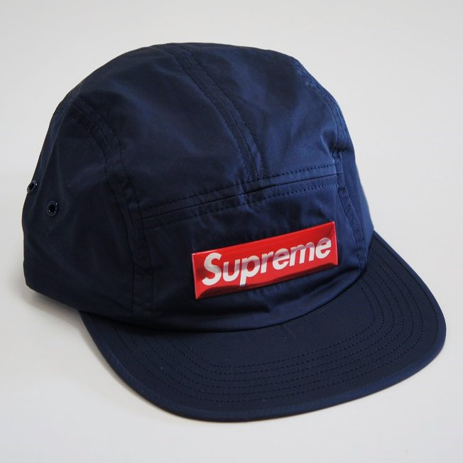 Supreme Liquid Metal Logo Camp Cap