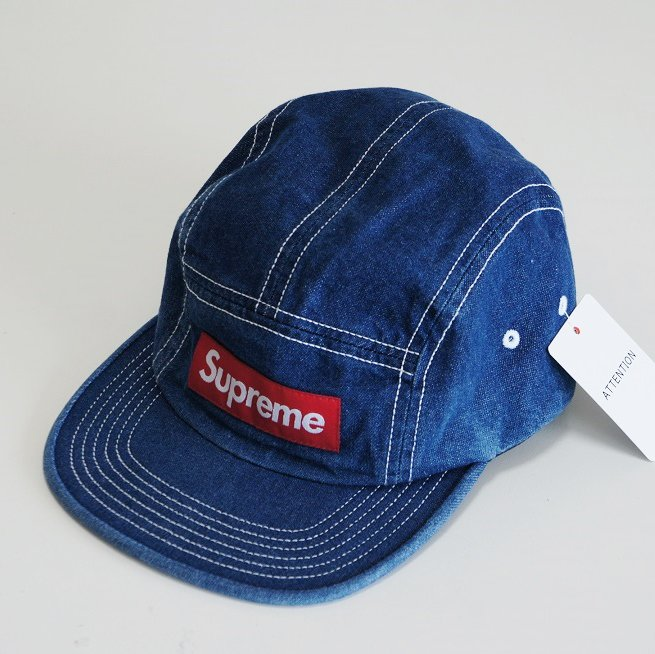 Supreme Contrast Stitch Camp Cap