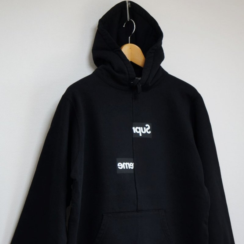 Supreme COMME des GARCONS SHIRT Split Box Logo Hooded Sweatshirt <img class='new_mark_img2' src='https://img.shop-pro.jp/img/new/icons47.gif' style='border:none;display:inline;margin:0px;padding:0px;width:auto;' />