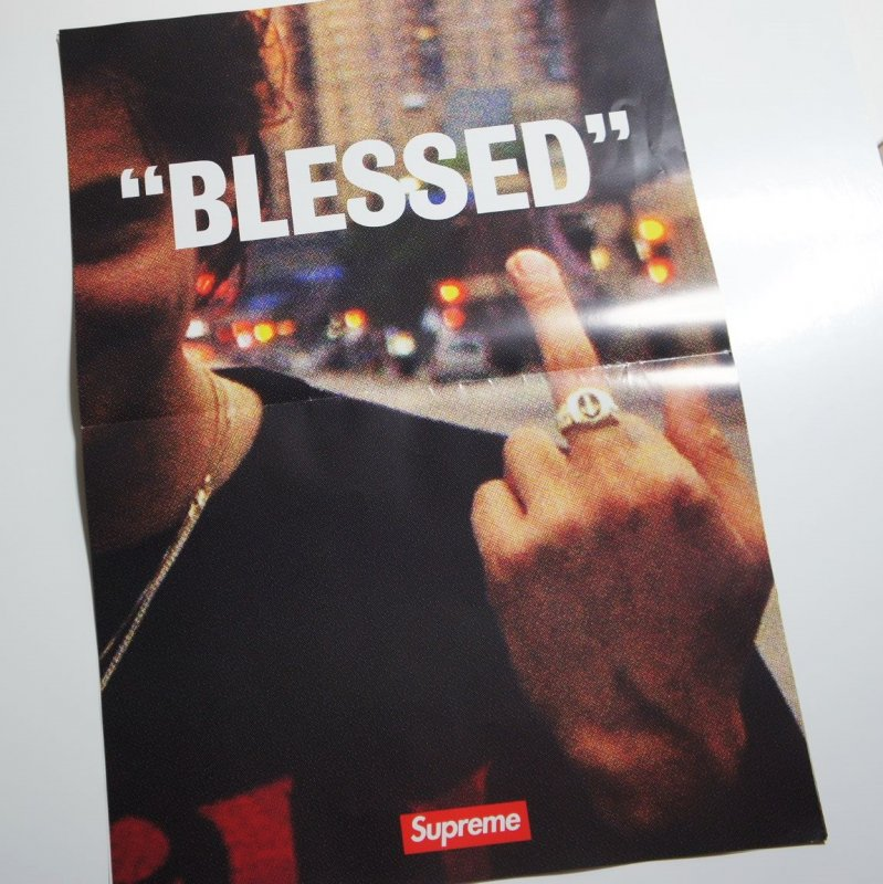 Supreme BLESSED ポスター<img class='new_mark_img2' src='//img.shop-pro.jp/img/new/icons15.gif' style='border:none;display:inline;margin:0px;padding:0px;width:auto;' />