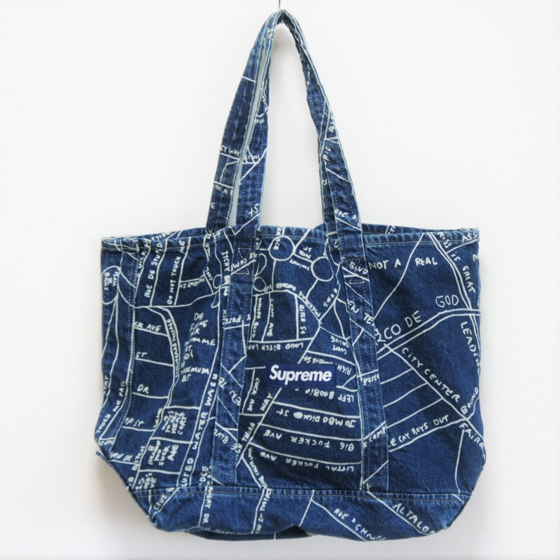 Supreme Gonz Map Denim Tote<img class='new_mark_img2' src='//img.shop-pro.jp/img/new/icons15.gif' style='border:none;display:inline;margin:0px;padding:0px;width:auto;' />
