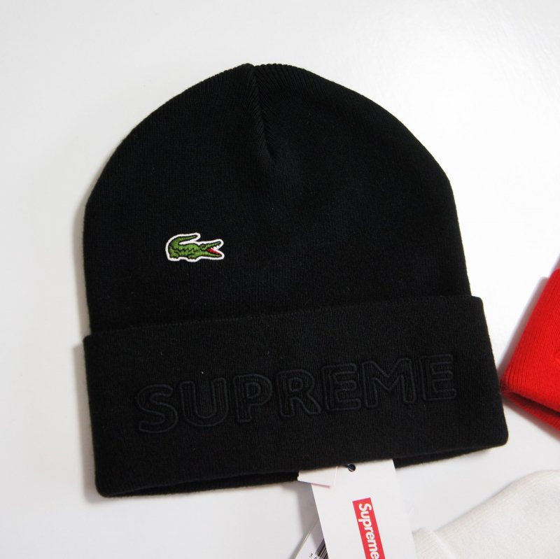 Supreme LACOSTE Beanie<img class='new_mark_img2' src='//img.shop-pro.jp/img/new/icons15.gif' style='border:none;display:inline;margin:0px;padding:0px;width:auto;' />