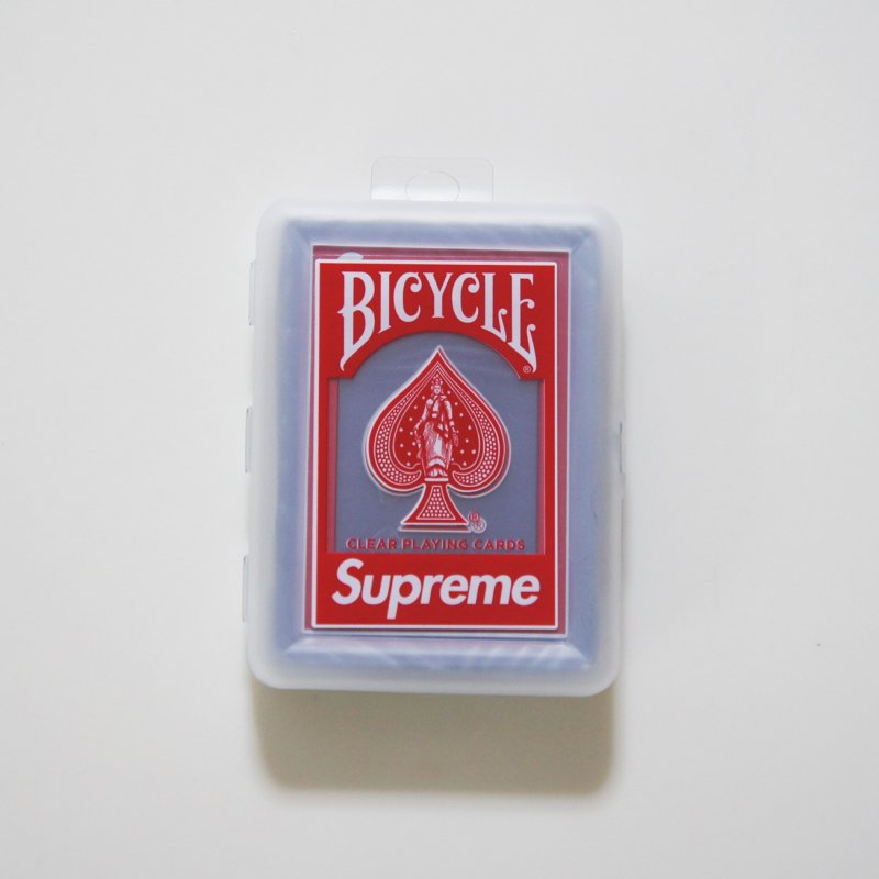Supreme®/Bicycle® Clear Playing Cards<img class='new_mark_img2' src='https://img.shop-pro.jp/img/new/icons15.gif' style='border:none;display:inline;margin:0px;padding:0px;width:auto;' />