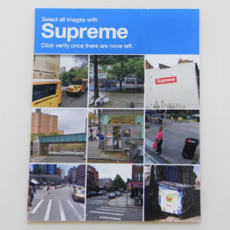 Supreme Verify Tee Sticker 2020FW Week1<img class='new_mark_img2' src='https://img.shop-pro.jp/img/new/icons15.gif' style='border:none;display:inline;margin:0px;padding:0px;width:auto;' />