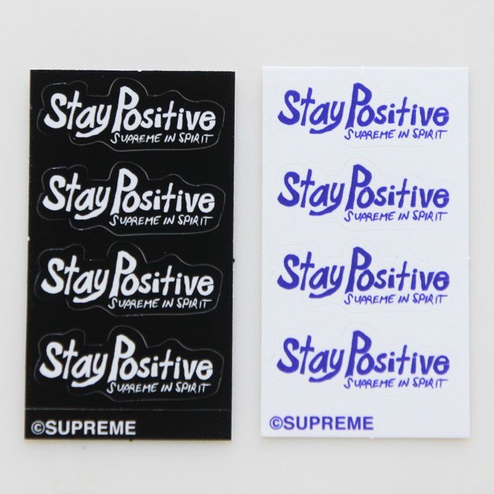 Supreme Stay Positive Tee Small 2色セット Sticker <img class='new_mark_img2' src='https://img.shop-pro.jp/img/new/icons15.gif' style='border:none;display:inline;margin:0px;padding:0px;width:auto;' />