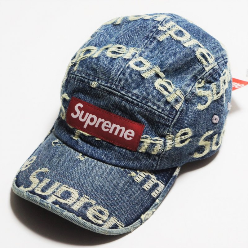 Supreme Frayed Logos Denim Camp Cap<img class='new_mark_img2' src='https://img.shop-pro.jp/img/new/icons15.gif' style='border:none;display:inline;margin:0px;padding:0px;width:auto;' />