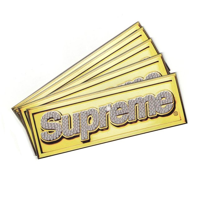 Supreme Bling Box Logo Sticker Set