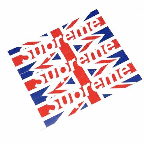 Supreme Union Jack Box Logo Sticker 3枚セット<img class='new_mark_img2' src='//img.shop-pro.jp/img/new/icons47.gif' style='border:none;display:inline;margin:0px;padding:0px;width:auto;' />