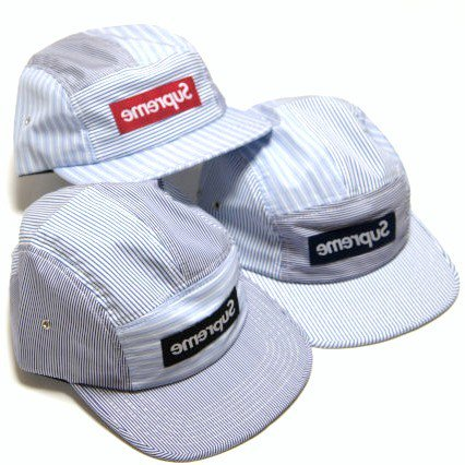 COMME des GARCONS SHIRT /Supreme - Box Logo Camp Cap<img class='new_mark_img2' src='//img.shop-pro.jp/img/new/icons47.gif' style='border:none;display:inline;margin:0px;padding:0px;width:auto;' />