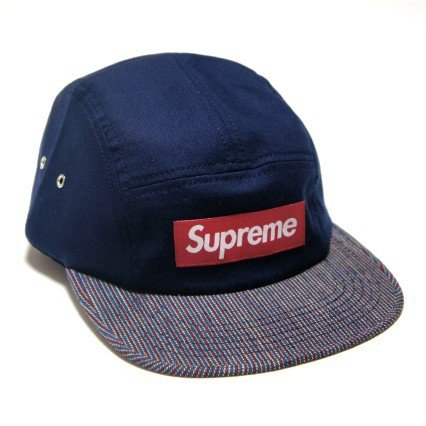 Supreme Box Logo Canvas Stripe Camp Cap<img class='new_mark_img2' src='//img.shop-pro.jp/img/new/icons47.gif' style='border:none;display:inline;margin:0px;padding:0px;width:auto;' />